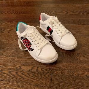 REAL Gucci Snake White Sneakers HALF OFF